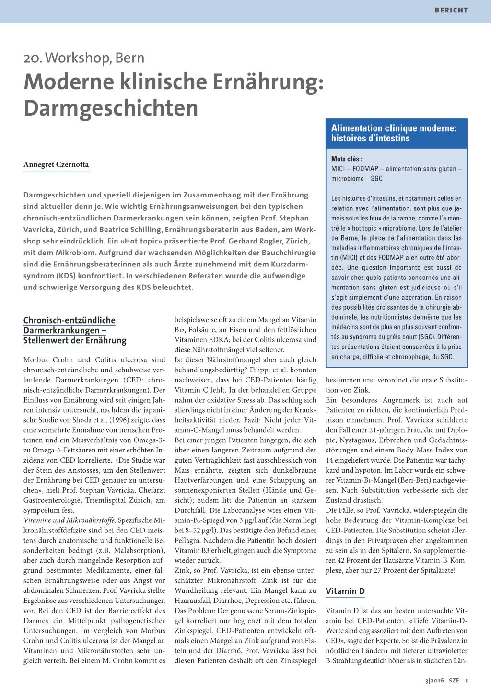 Moderne klinische Ernährung – Darmgeschichten – Rosenfluh.ch