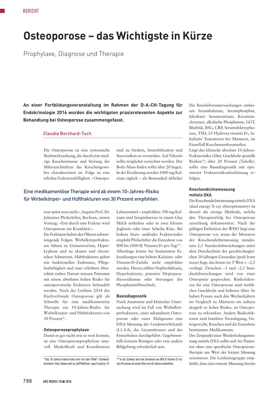 Osteoporose Das Wichtigste In Kurze Rosenfluh Ch