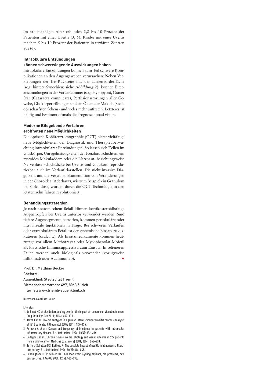 Wenn Rheuma ins Auge geht – Rosenfluh.ch