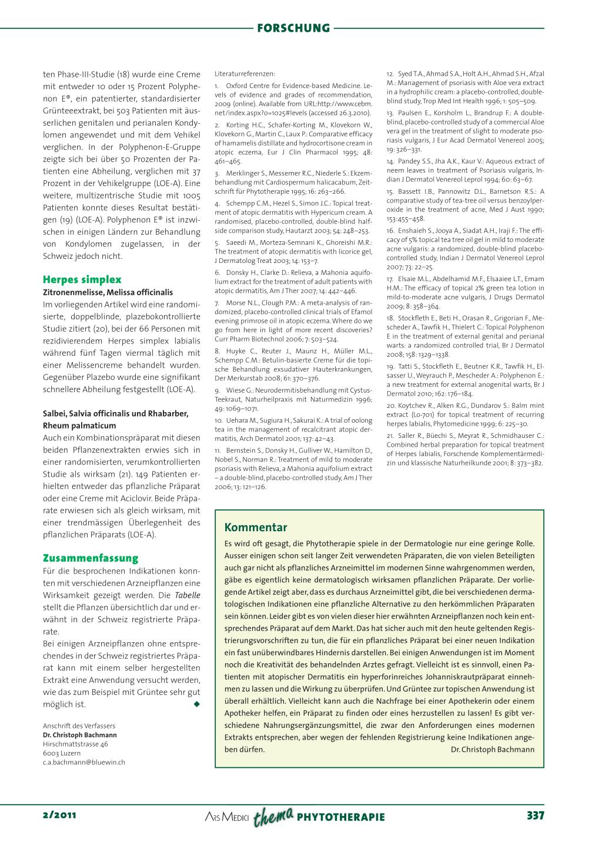 Wirksame Arzneipflanzen Bei Dermatologischen Erkrankungen Rosenfluhch