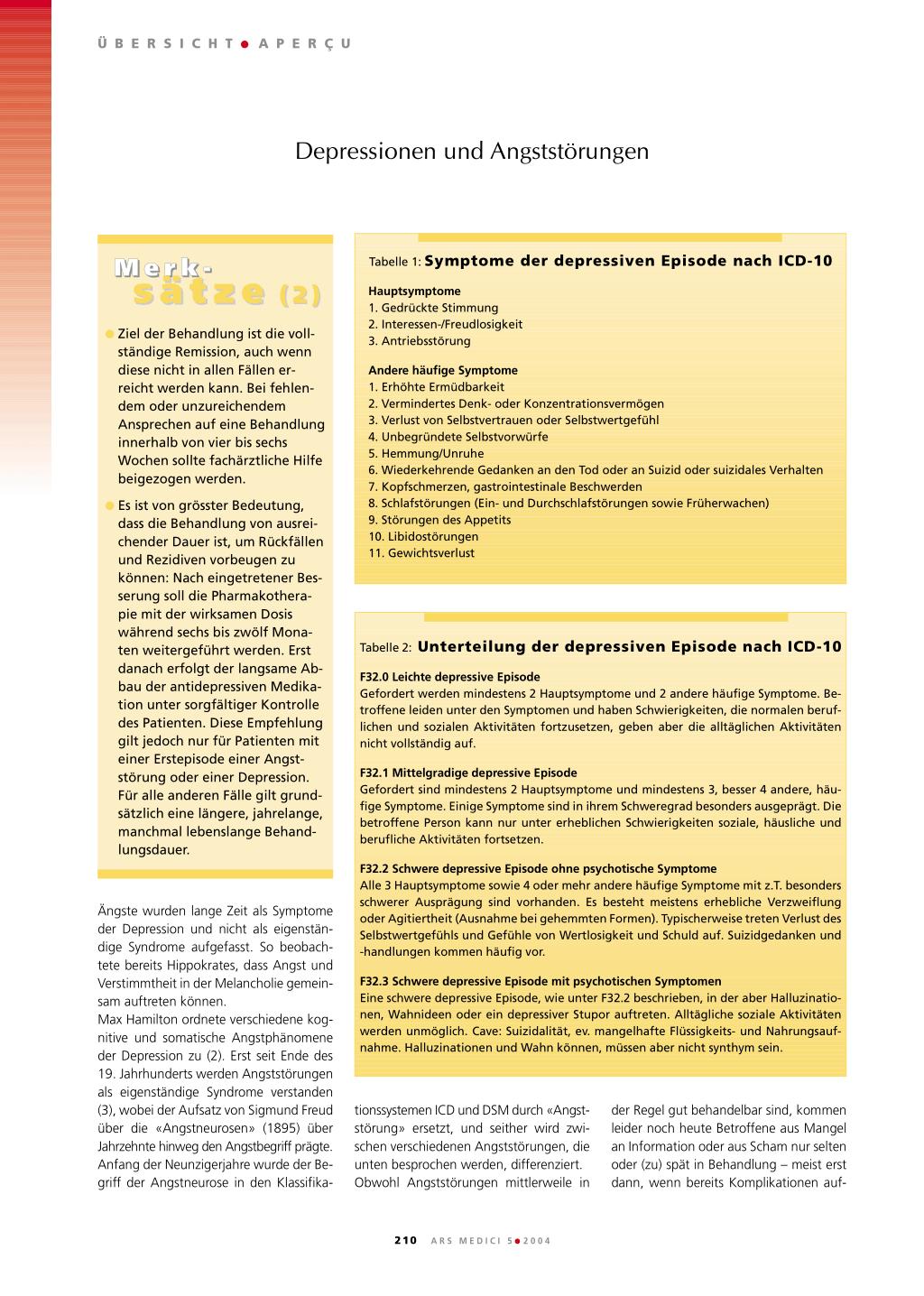 Depressionen und Angststörungen – Rosenfluh.ch