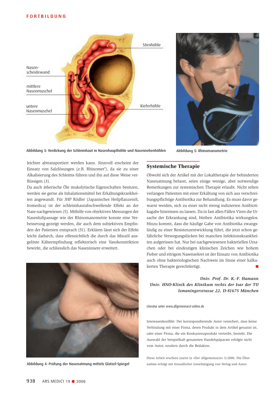 Therapieprinzipien bei akuter Rhinitis – Rosenfluh.ch