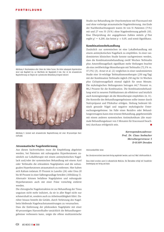 Die Behandlung der Onychomykose – ein noch immer ungelöstes Problem ...