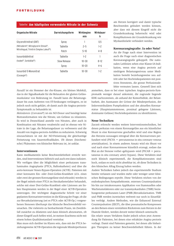 Stabile Angina pectoris – Rosenfluh.ch