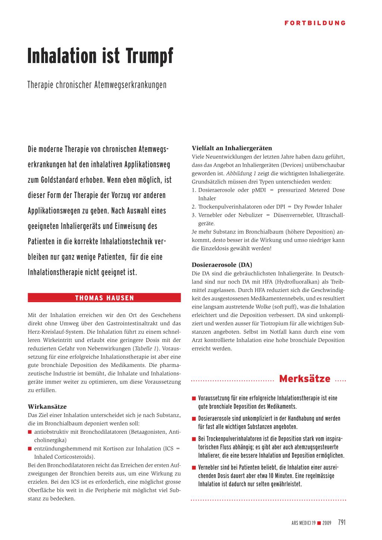 Inhalation ist Trumpf – Rosenfluh.ch