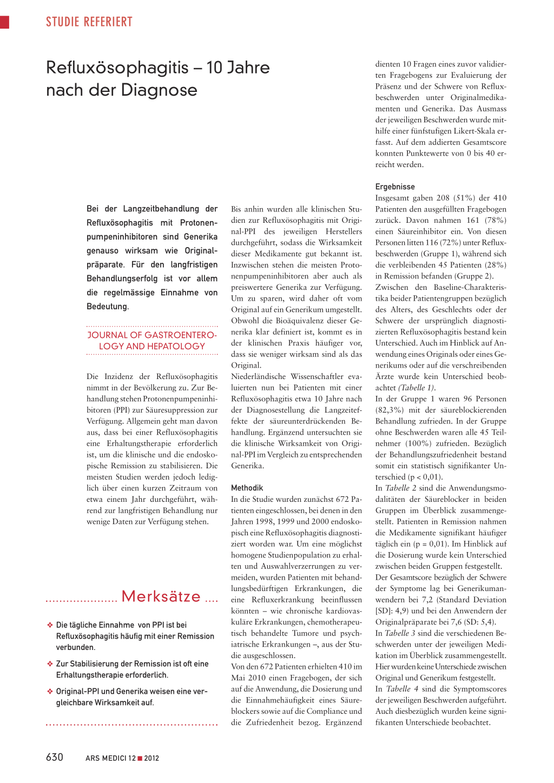 Refluxösophagitis