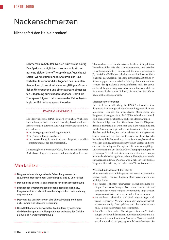 Nackenschmerzen – Rosenfluh.ch