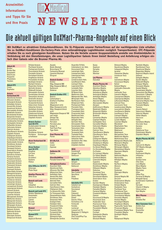 DoXMedical Newsletter – Rosenfluh.ch