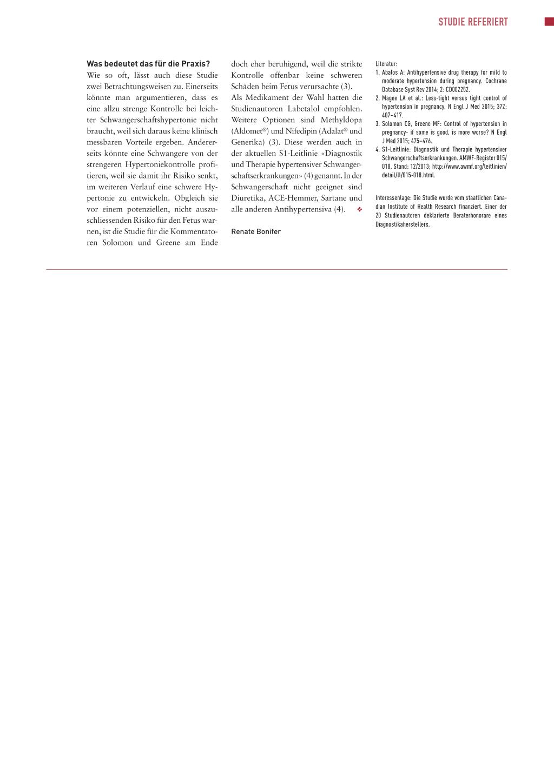 Hypertonie in der Schwangerschaft - Rosenfluh.ch