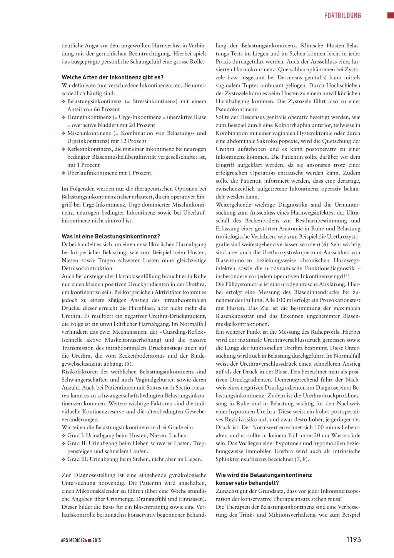 Die weibliche Blasenschwäche – Rosenfluh.ch