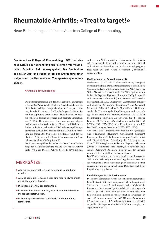 MTX und Co. bei Rheuma