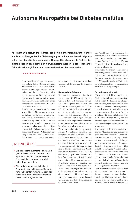 Serie: Diabetische Neuropathie – Die autonome diabetische Neuropathie des Gastrointestinaltraktes