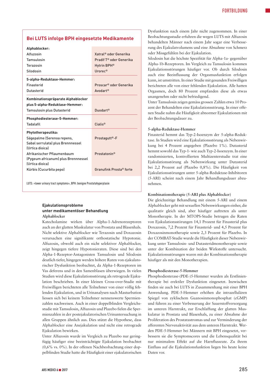 Ejakulationsstorungen Bei Der Therapie Von Prostatabeschwerden Rosenfluh Ch