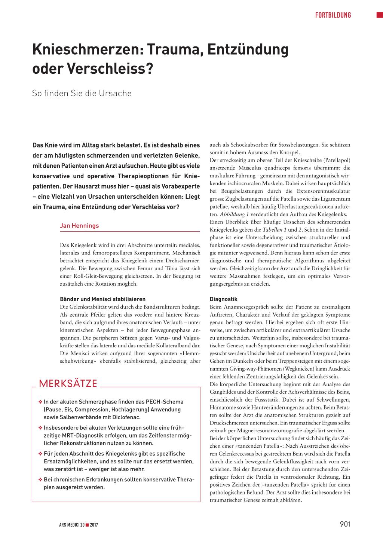 Knieschmerzen – Trauma, Entzündung oder Verschleiss? – Rosenfluh.ch