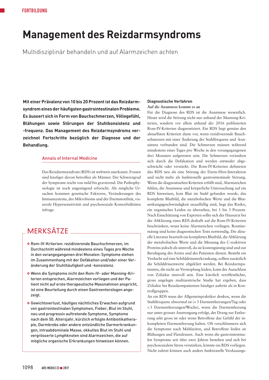 Management Des Reizdarmsyndroms Rosenfluhch