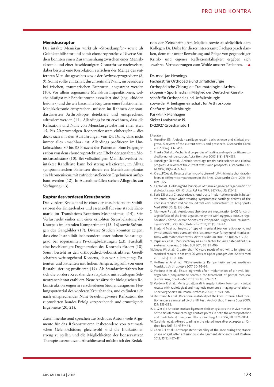 Was bringt die Operation bei traumatischen Knieschäden? – Rosenfluh.ch