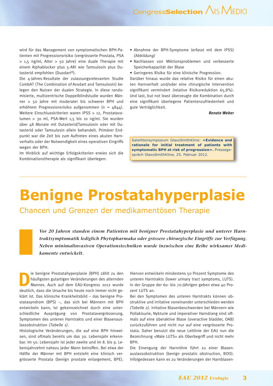 benigne prostatahyperplasie bph symptome)