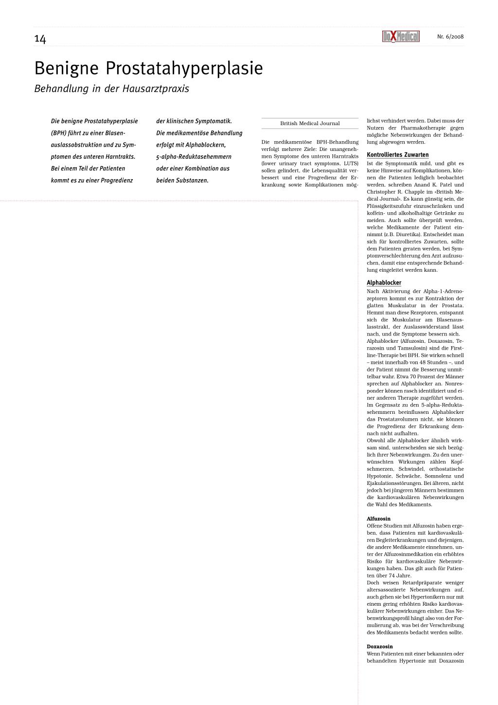 tadalafil benigne prostatahyperplasie