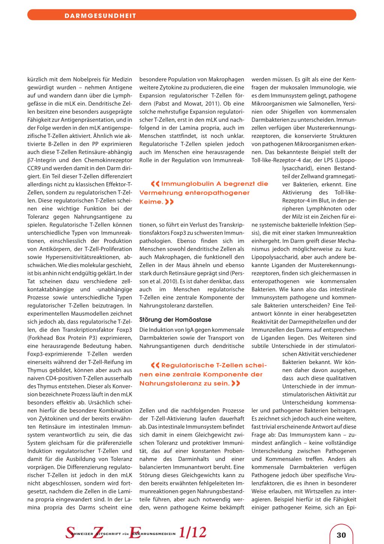 Aufbau und Funktion des intestinalen Immunsystems – Rosenfluh.ch