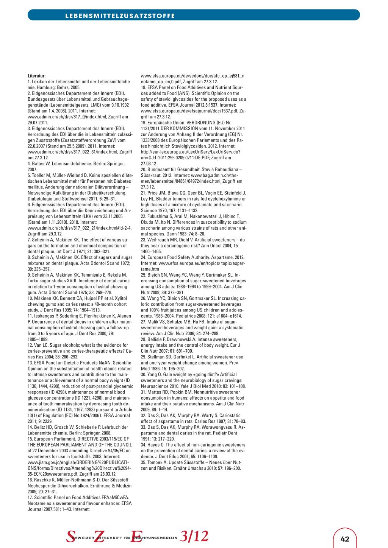Teil 3 – Süssungsmittel – Rosenfluh.ch