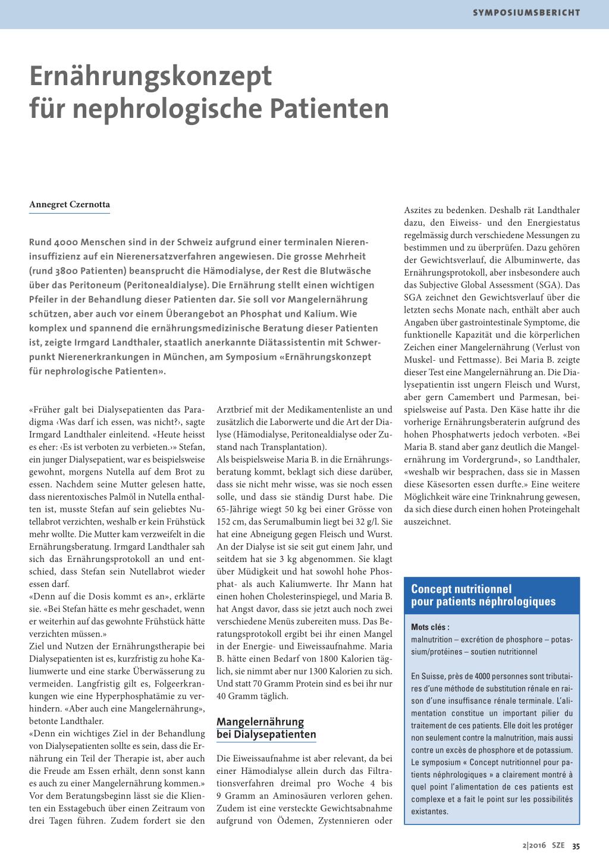 Ernährungskonzept für nephrologische Patienten – Rosenfluh.ch