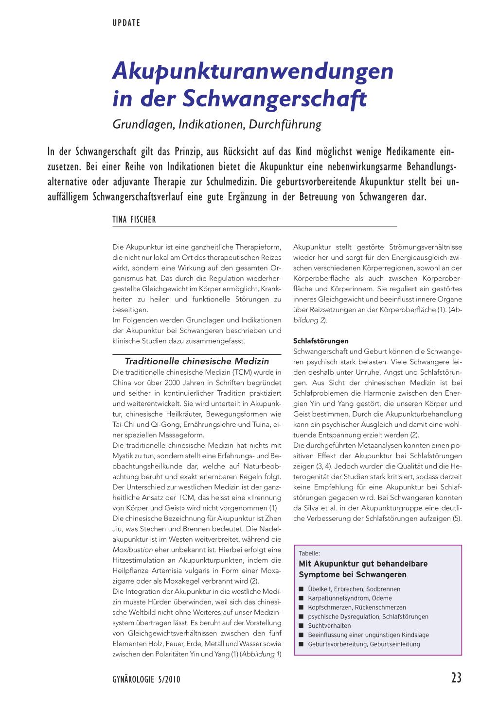 Akupunkturanwendung in der Schwangerschaft – Rosenfluh.ch