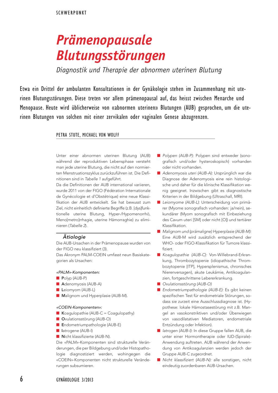 Prämenopausale Blutungsstörungen – Rosenfluh.ch
