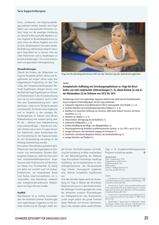 Yoga Bei Brustkrebspatientinnen Rosenfluhch