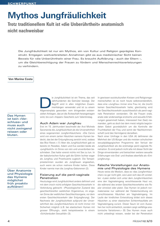 Mythos Jungfräulichkeit – Rosenfluh.ch