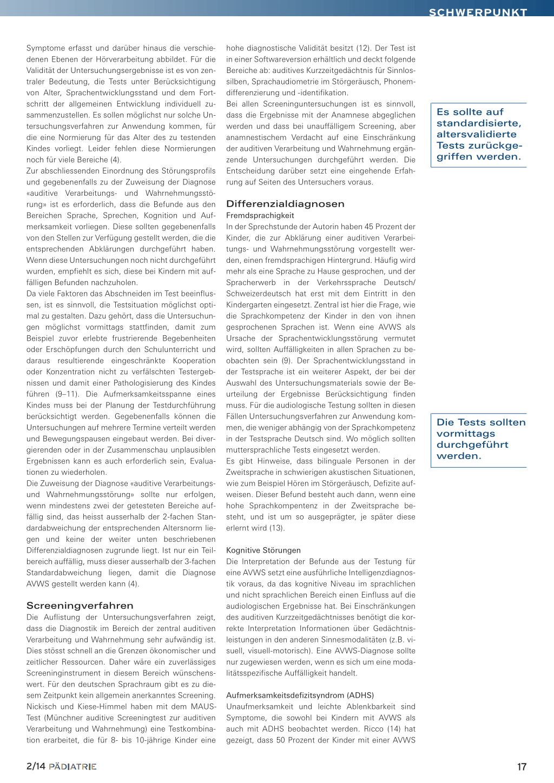 anmeldenregistrierenprofil bearbeitenabmelden tonsillektomie im kindesalter hrhilfen eine bersicht - Wahrnehmungsstorungen Beispiele