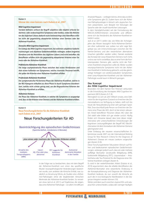 Neue Diagnosekriterien für die Alzheimer-Krankheit – Bedeutung für ...